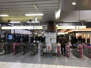 新木場駅改札(有楽町線)